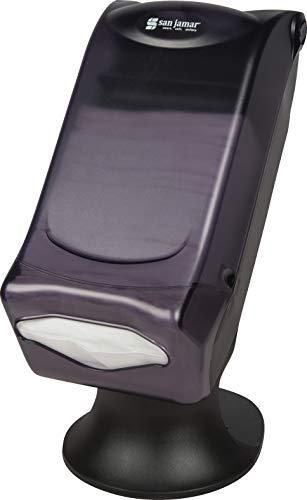 "San Jamar - H5005STBK H5005S Venue Fullfold Control Napkin Dispenser with Stand, 500 Capacity, 8"" Width x 17-1/2"" Height x 13"" Depth, Black Pearl"