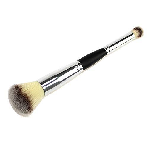 Terilizi 1 Pcs Professionnel Double Tête Fard À Paupières Brosse Faciale Fondation Blush Brosses Multifonction Maquillage Outils