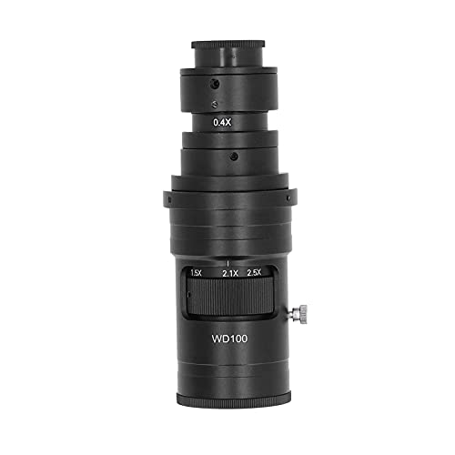 Snufeve6 Lente del Ocular del Microscopio, Aumento De 0,7 A 5X Lente del Microscopio Zoom Continuo Ajustable Aleación De Aluminio para Detección De Cristales para Detección Electrónica