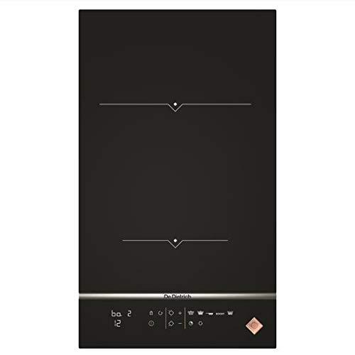 De Dietrich DPI7360X plaque Noir, Acier inoxydable Intégré Plaque avec zone à induction - Plaques (Noir, Acier inoxydable, Intégré, Plaque avec zone à induction, Verre-céramique, 2400 W, Rond)