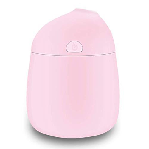 加湿器 卓上 ミニ加湿器 超音波式 水溶性アロマ対応 USB給電 空焚き防止 静音 日本語説明書付き (ピンク) 綿棒