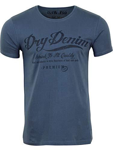riverso Herren T-Shirt RIVLeon Rundhals O-Neck Kurzarm Tee Shirt Print Regular Fit 100{ea5df223e2df2b93e8ed35b2adf91c778c66365a245444f6621705cb5a147e92} Baumwolle Grün Blau Weiß Grau Rot Orange S M L XL 2XL 3XL 4XL 5XL, Größe:4XL, Farbe:Blau (AJD)
