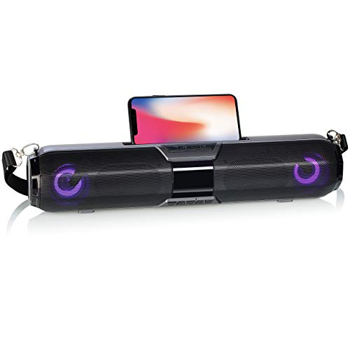 Morgan`s BT22L FM Radio, Bluetooth Lautsprecher, Freisprechfunktion, Smartphone/Tablet-Halter & Mediaplayer! kompatibel mit iPhone, Ipad, Android, USB, TF Karte, AUX, tragbar
