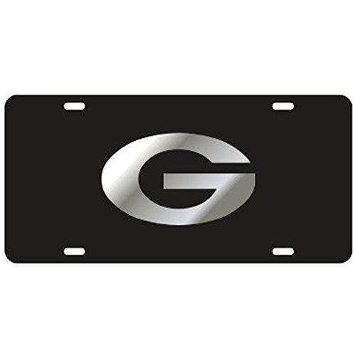 Craftique Georgia Bulldogs Black Laser Cut License Plate - Mirror G