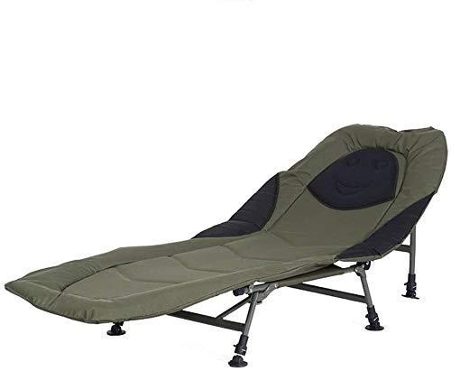 HYY-YY Portátil Flexible Lit Inclinable Lit Chaise Lit Fauteuil Carpe de Peche Lits De acampa Plage Intérieur Extérieur Mobilier De Oficina un Domicilio (Couleur: Vert, Taille: 190 * 72 * 38 cm)