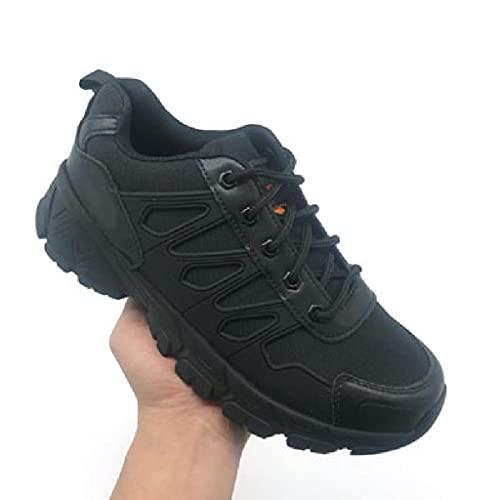 Botas Militares Bajas Botas Tácticas De Combate Para El Desierto Botas Ligeras Para Caminar Al Aire Libre Zapatos Militares Botas De Entrenamiento Antideslizantes Gran Tamaño Transpirables,Black-43
