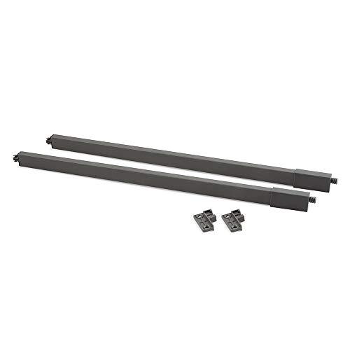 Emuca - Kit di astine laterali quadrate per cassetto in metallo di cucina o bagno, L 500mm, Grigio antracite