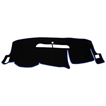 Hex Autoparts Dash Cover Mat Dashboard Pad Replacement for 2008-2013 Chevy Silverado LT WT 4x4  Black