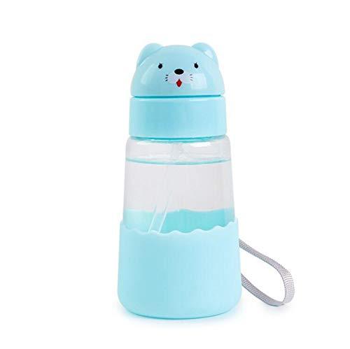 Botella De Agua De Cristal Diseño De Animales Taza De Agua Con Pajita Para Niños Diseño Simple 100% Libre De BPA No TÓXica Para Agua FrÍA Y Caliente EcolÓGica Reutilizable Botella Pequeña 350 Ml