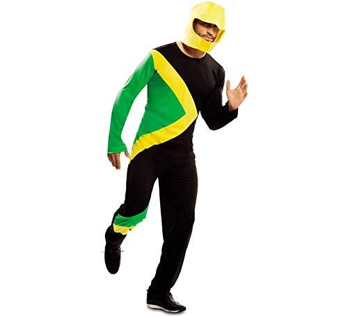 EUROCARNAVALES Disfraz de Piloto Trineo Bobsleigh Jamaicano para Adultos
