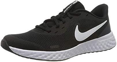 Nike Unisex-Kid's Revolution 5 Grade School Running Shoe, Black/White-Anthracite, 3.5Y Regular US Big Kid
