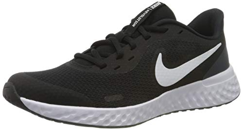NIKE Revolution 5, Zapatillas, Black White Anthracite, 38 EU