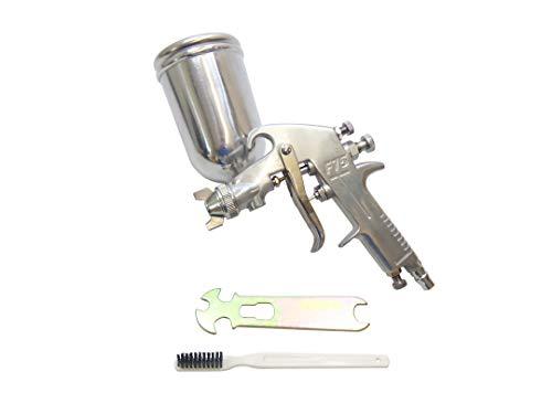 エアスプレーガン 塗装ガン プロ仕様 ノズル口径 1.3mm 上カップ 400ml 重力式 パターン調整 エアー量調整 吐出量 カップ角度調整可能 60日保証
