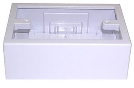 Wire Trak Raceway In a Roll and Accessories, WHITE (All Series, Single Junction Box)