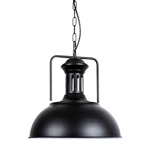 lampada industriale Huahan Haituo Lampada a sospensione industriale vintage in metallo 33cm con catena regolabile