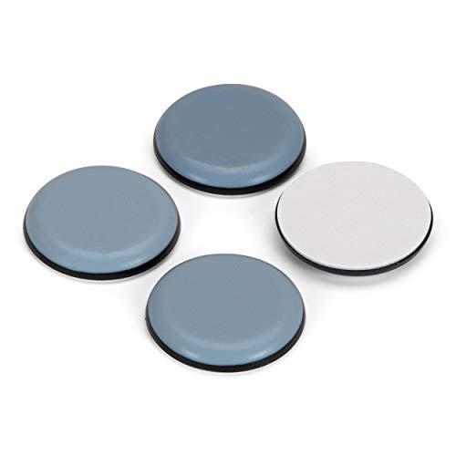 4 almohadillas de teflón, redondas, 50 mm de diámetro, autoadhesivas, protectores de suelo, deslizadores de PTFE