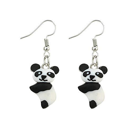 TREESTAR crochet boucles d'oreilles pour filles enfants doux argile boucles d'oreilles goutte pendentif cadeau pour fille petite amie petit panda 4.5 cm / 1.8'