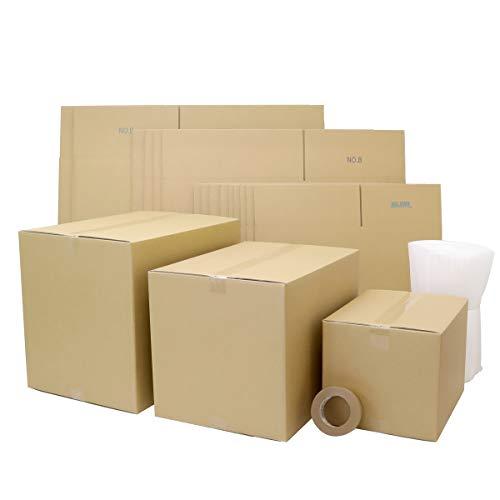 アースダンボール ダンボール 段ボール 引越し 1人用 100サイズ 140サイズ 160サイズ 梱包材 テープ付 【2021】