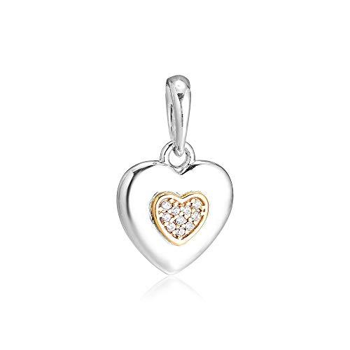 LISHOU Frauen 925 Sterling Silber Schmuck Origami Kranich Charms Perlen Fit European Pandora Armbänder Halsketten DIY Schmuckherstellung
