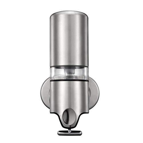 Dispensador de jabón Duradero 500 ml Dispensador de jabón de baño de Hotel de Acero Inoxidable Montado en la Pared Manual de Doble Cabezal Gel de Ducha Loción Botella Dispensador d