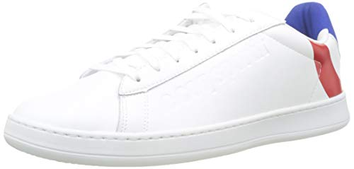 Le Coq Sportif Unisex Break COCARDE Sneaker, Weiß Optical White Tricolor, 42 EU