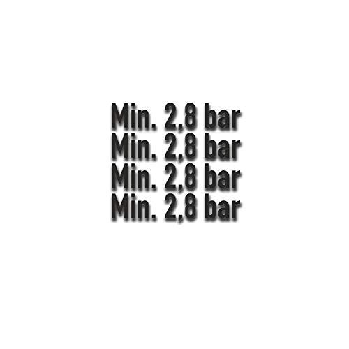 Min 2,8 bar Reifendruck Aufkleber Bundeswehr Reifen-Druck 4,5x1cm #A5363