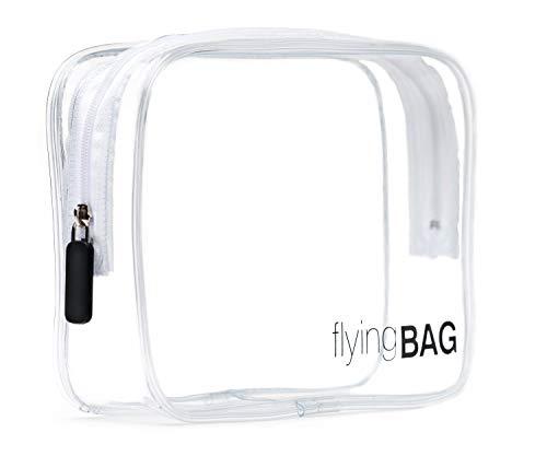 PREMAROS flyingBAG transparenter Kulturbeutel, Kosmetiktasche für Koffer im Handgepäck,...