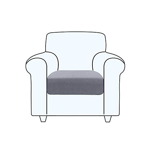 TAOCOCO Fundas de cojín para sofá,Protector de cojín de Asiento de Tela de poliéster de Alta Elasticidad (Gris Claro, 1 Asiento)