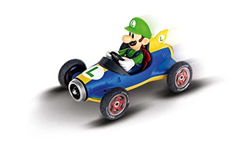 Carrera- 2,4GHz Mario Kart Mach 8, Luigi Coche de Juquete con Control Remoto, Multicolor...