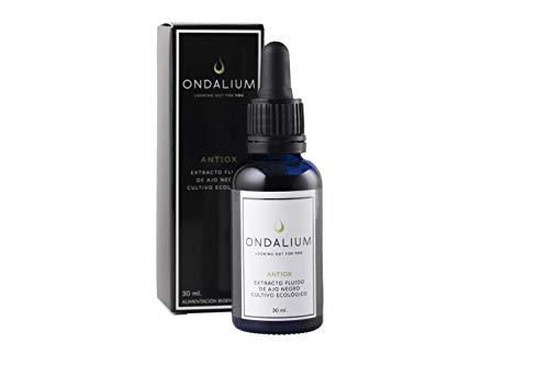 Ondalium Antiox | Extracto fluido Antioxidante de Ajo Negro Ecológico español (1 mes) - Producto natural para la mediana edad y personas con problemas degenerativos y de memoria - 30 ml