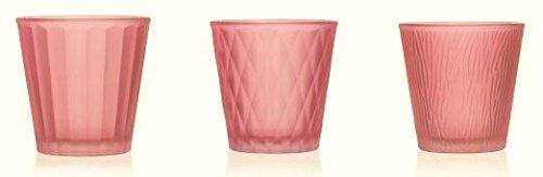 7,5cm D 3er Pack Teelichtgläser LUMIERE H 7,5cm grün Glas Sandra Rich