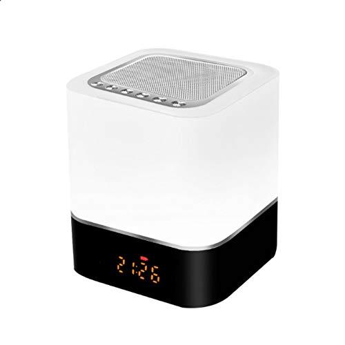 Lebron ray Led-bluetooth-luidsprekerlicht, USB-opladen met LCD-touchscreen, ondersteuning voor handsfree bellen U-disc/TF-kaart afspelen, compatibel met alle Bluetooth-apparaten