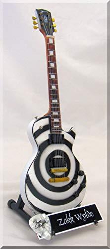 ZAKK WYLDE Guitarra miniatura con púa de guitarra BULLSEYE