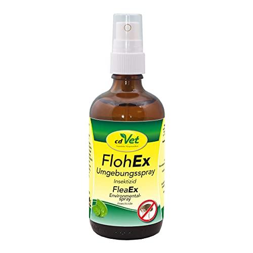 cdVet FlohEx Umgebungsspray, rein pflanzliches Flohspray 100 ml - natürlicher Flohschutz ohne Chemie für Hunde, Katzen und Nagern