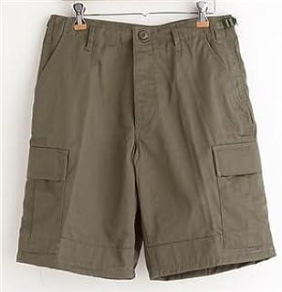 アメリカ軍 BDU カーゴショートパンツ 迷彩服パンツ Sサイズ リップストップ オリーブ レプリカ