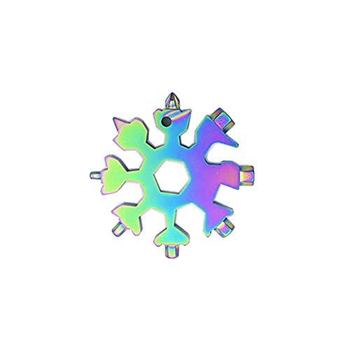 Tragbare Schneeflockenwerkzeug, 20-in-1 Edelstahl Multifunktionswerkzeug,Schneeflocke Multitool Karte, Handwerkzeuge Schraubendreher Flaschenöffner Ringschlüssel Sechskantschlüssel 3STK