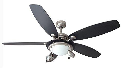 Air & Light Milord Plafondventilator met verlichting globe/spots 132 cm