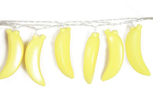 SDOUBLEM Fruit Banana String Lights 20 LED Battery Operated Lamp Party Holiday Decorations Light for Indoor Home Patio Garden