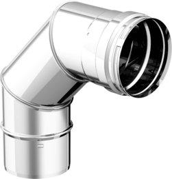 Articolo fumisteria Linea 'Legna' e 'pellet': curva 90°, acciaio inox, diametro 150 mm