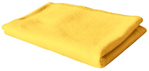 Exner Home Polar Fleece Decke Tagesdecke Kuscheldecke Sofadecke (gelb)