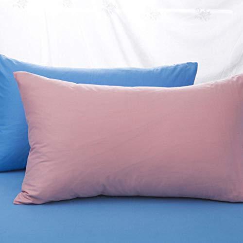 HNLHLY Funda de Almohada de algodón Funda de Almohada de Color Puro Ropa de Cama Múltiples tamaños Disponibles, 1pcs-A_47x120cm