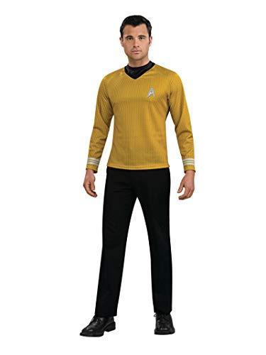 Rubie's Star Trek Gold Star Fleet Uniform Shirt, Gold, Medium Costume