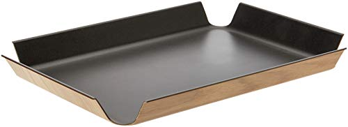 Continenta Rutschfestes Tablett schwarz, Metallic