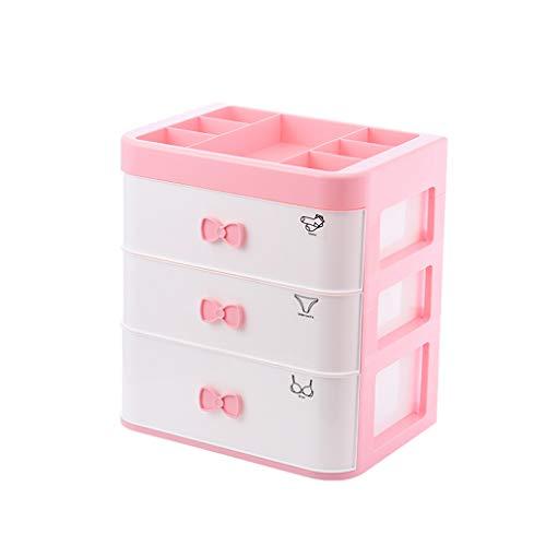 Zylxnt Cajón Sencilla hogar Caja de plástico Interior del Compartimiento de Las Medias del niño (Color : Blue, Size : 17.91in)