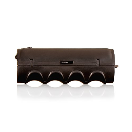 gripONE Gloomy Black - der clevere Tragegriff für Einkaufstaschen, Tüten, Farbeimer und mehr, mit integrierter LED-Taschenlampe und Einkaufswagenchip