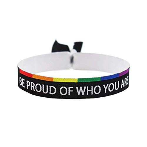 3x Be proud of who you are Armband Festival Bändchen CSD Pride Lgbt