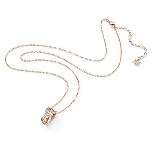 Swarovski Collar Twist, Blanco, Baño tono oro rosa