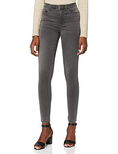 ONLY Damen Onlroyal High Dnm Bj312 Noos Skinny Jeans, Grau (Dark Grey Denim), S 34L EU