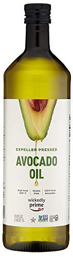 Wickedly Prime 100% Pure Avocado Oil, Expeller Pressed, Non-GMO, Gluten Free, 1 L