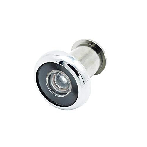 VOWAN 1 pieza Visor de puerta Mirilla de 180 grados Ángulo de visión amplio antirrobo ajustable con tapa de privacidad, 20-35 mm